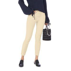 Frame Velvet Cream Le High Skinny Pants P2571